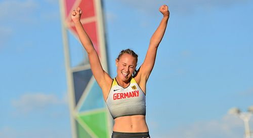 Sarah Vogel springt zu Gold bei Europäischem Olympischem Jugend-Festival